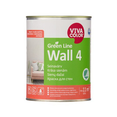 Vivacolor Green Line WALL 4 (0,9l)