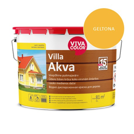 Vivacolor Villa Akva (geltona, 9l)