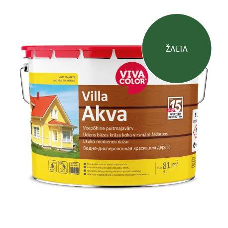 Vivacolor Villa Akva (žalia, 9l)